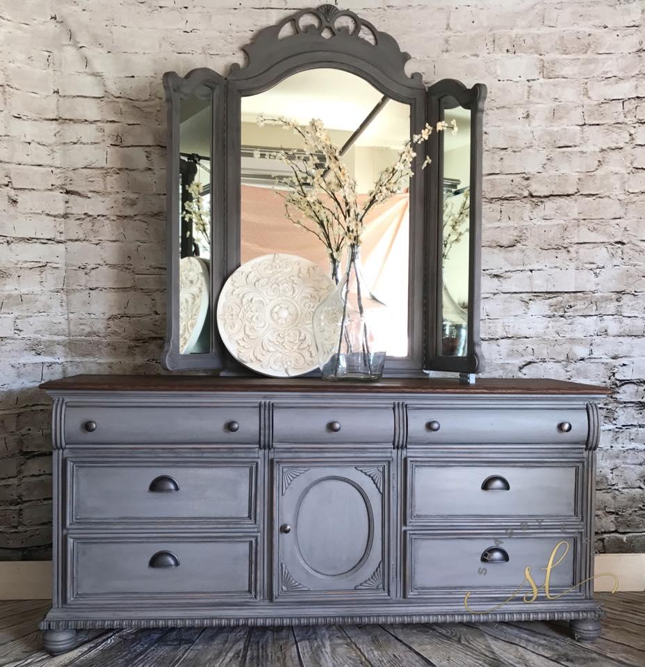 Vintage Set In Driftwood Milk Paint W Dark Wax General Finishes Design Center
