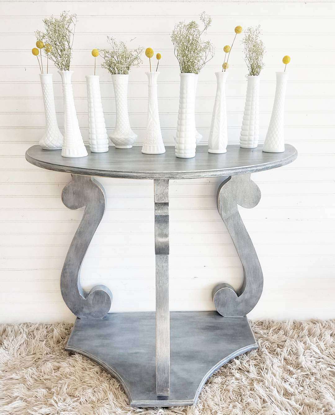 Gray Washed Table With Argentine Pearl Effects General