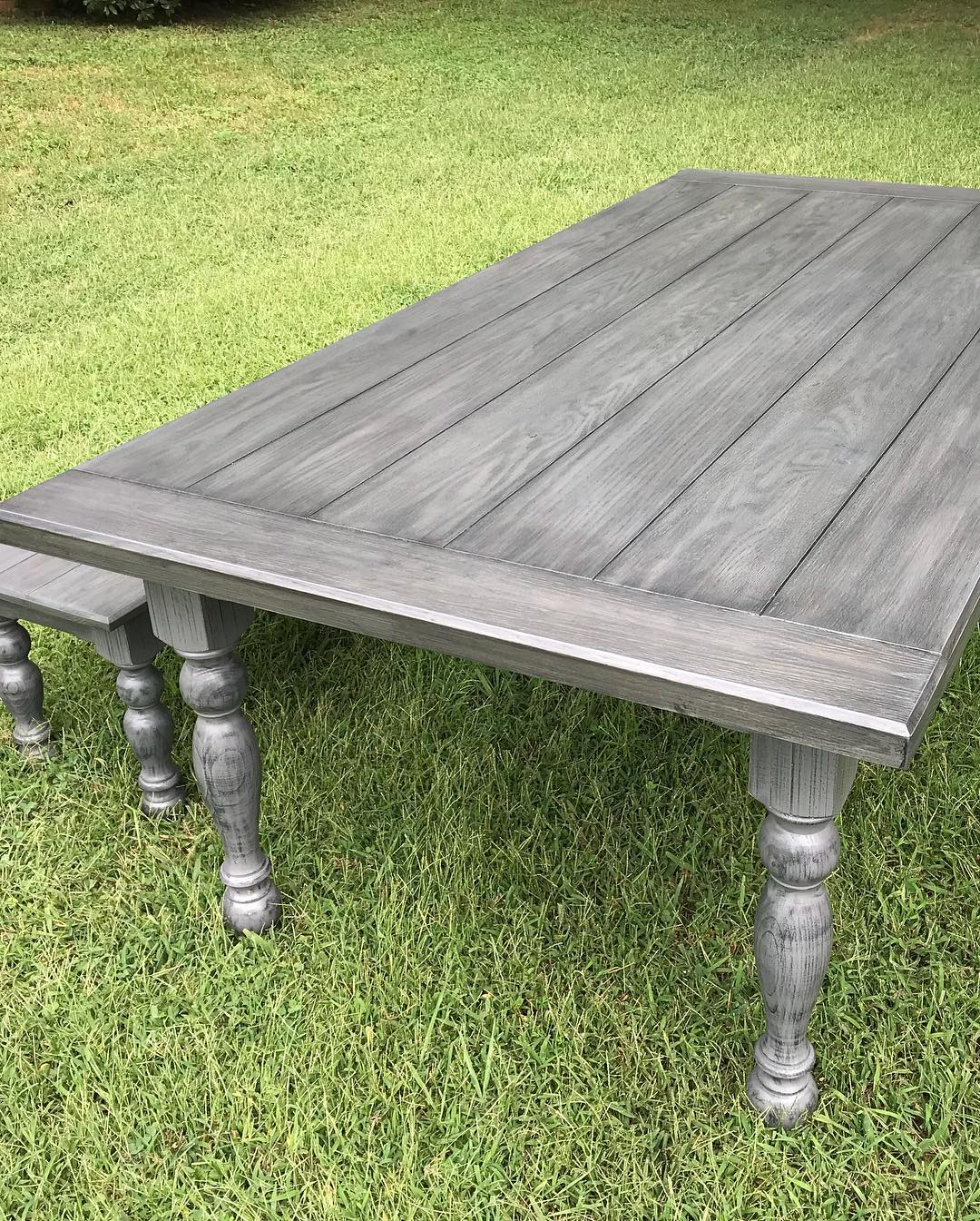Gray Farmhouse Table