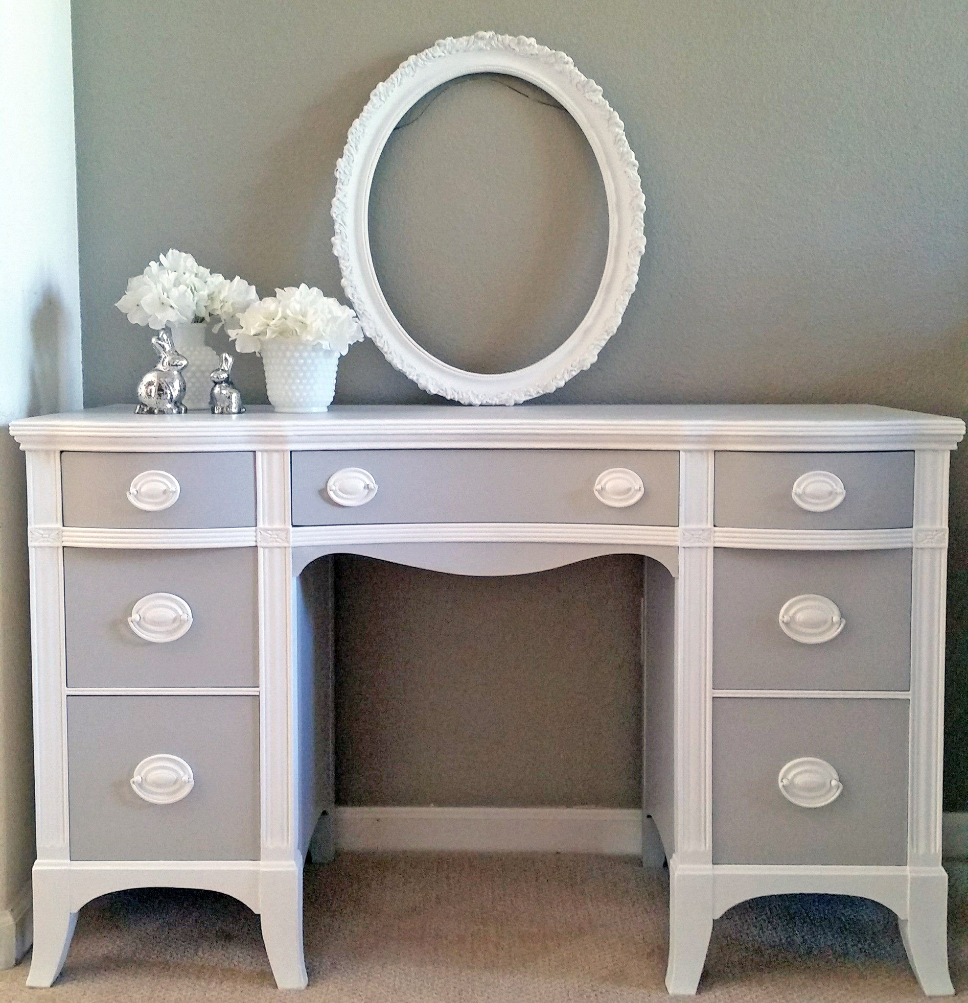 Seagull Gray And Snow White Desk General Finishes Design