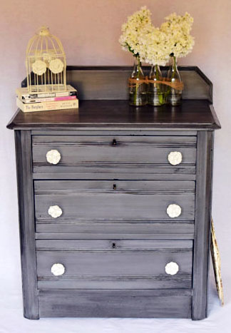 Custom Gray Chest Of Drawers General Finishes Design Center