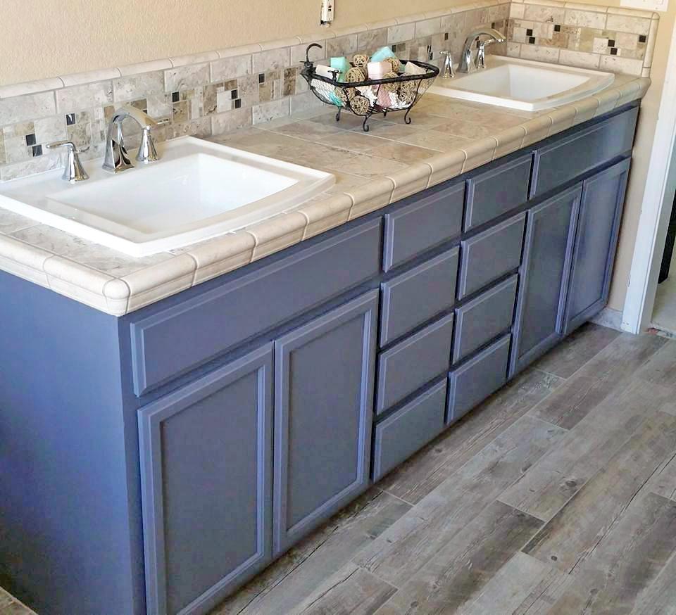 Driftwood Bathroom Cabinet Update General Finishes Design Center