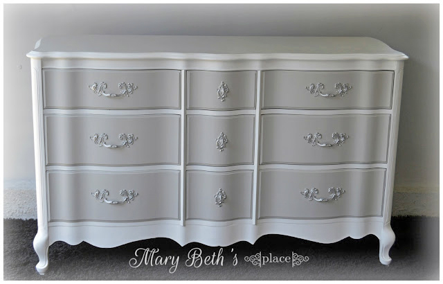 Seagull Gray And Snow White Dresser General Finishes