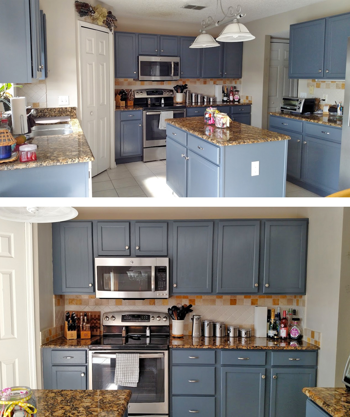Kitchen Cabinet Stain Ideas: Kitchen Makeover In Gray Gel Stain