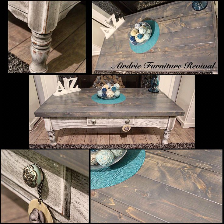 Dining Table In Gray Gel Stain And Snow White Milk Paint Topped With Pitch  Black Glaze Effects