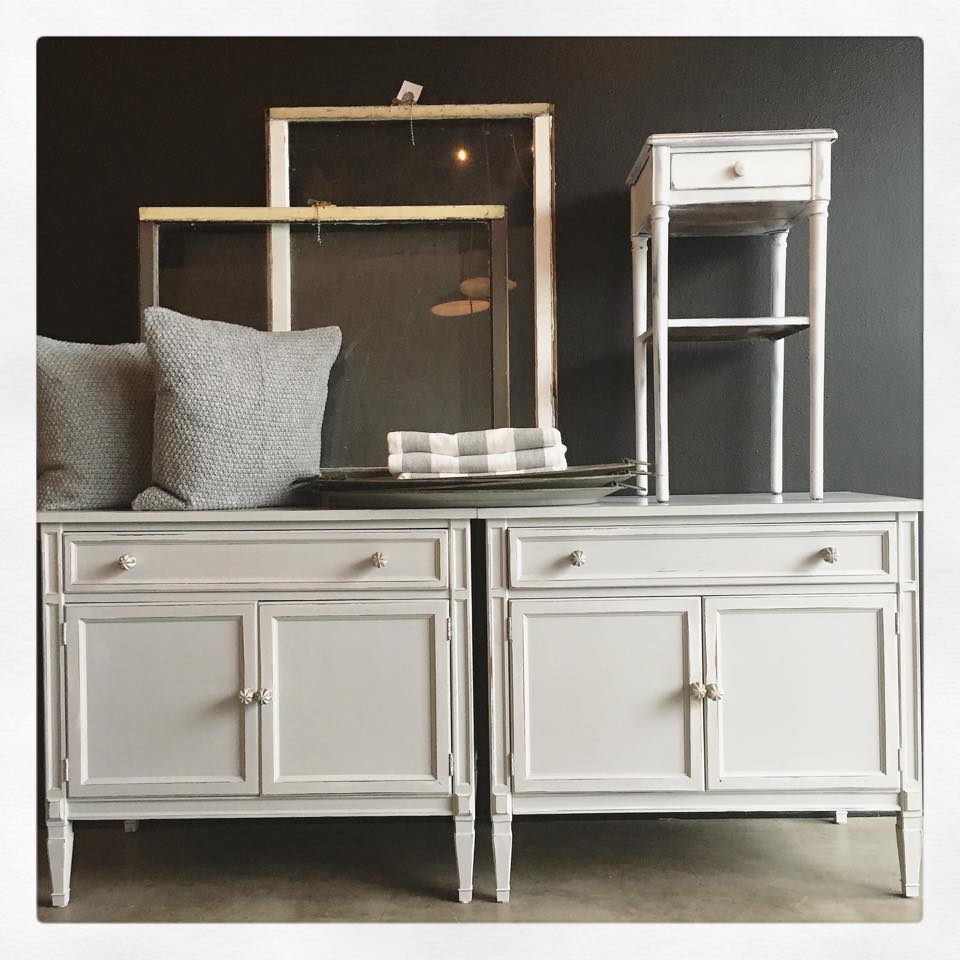 General Finishes Design Center: End Tables In Seagull Gray Milk Paint