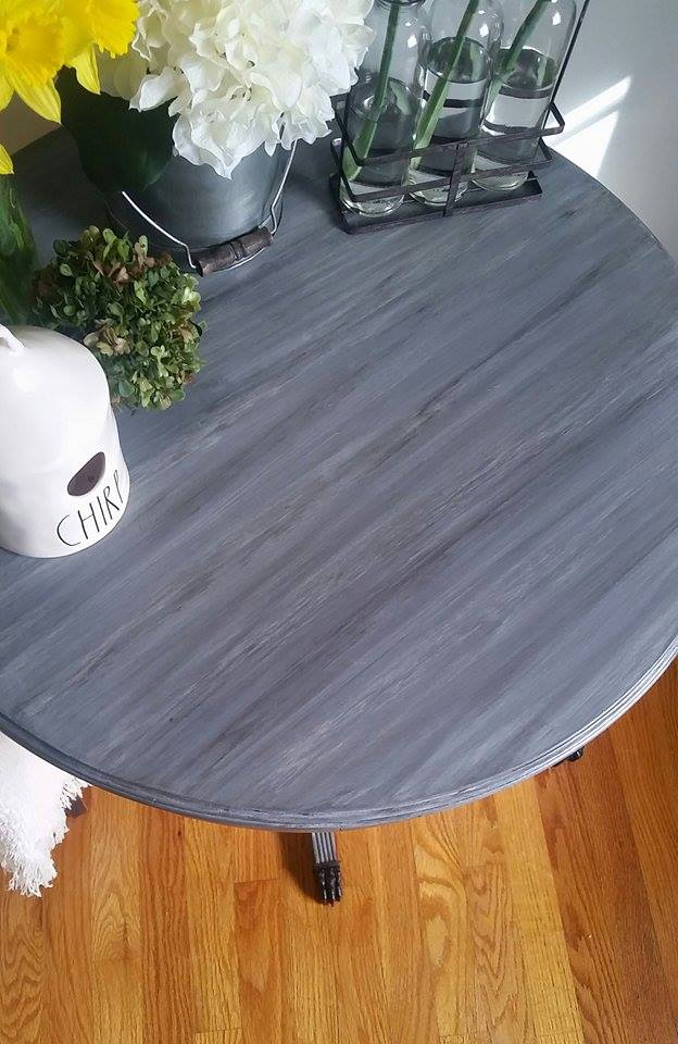 Table In Driftwood And A Gf Milk Paint Glaze General
