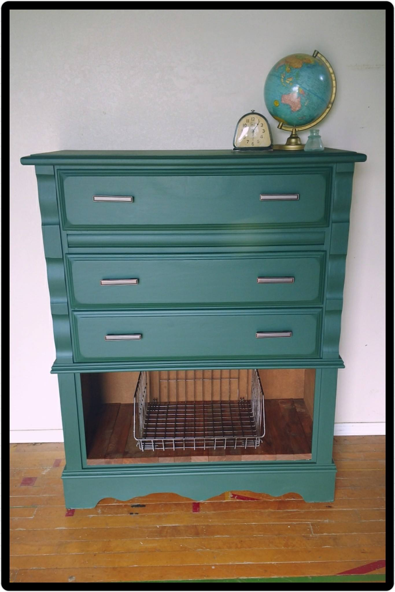 Dresser In Emerald Amp Coastal Blue Milk Paint Mix General
