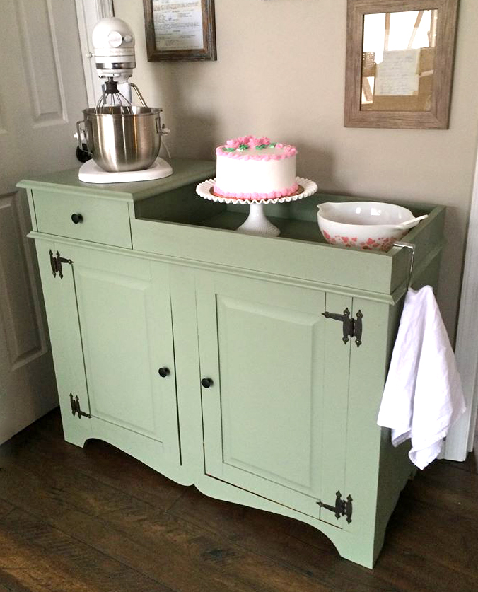 Beautiful Basil Green Dry Sink General Finishes Design