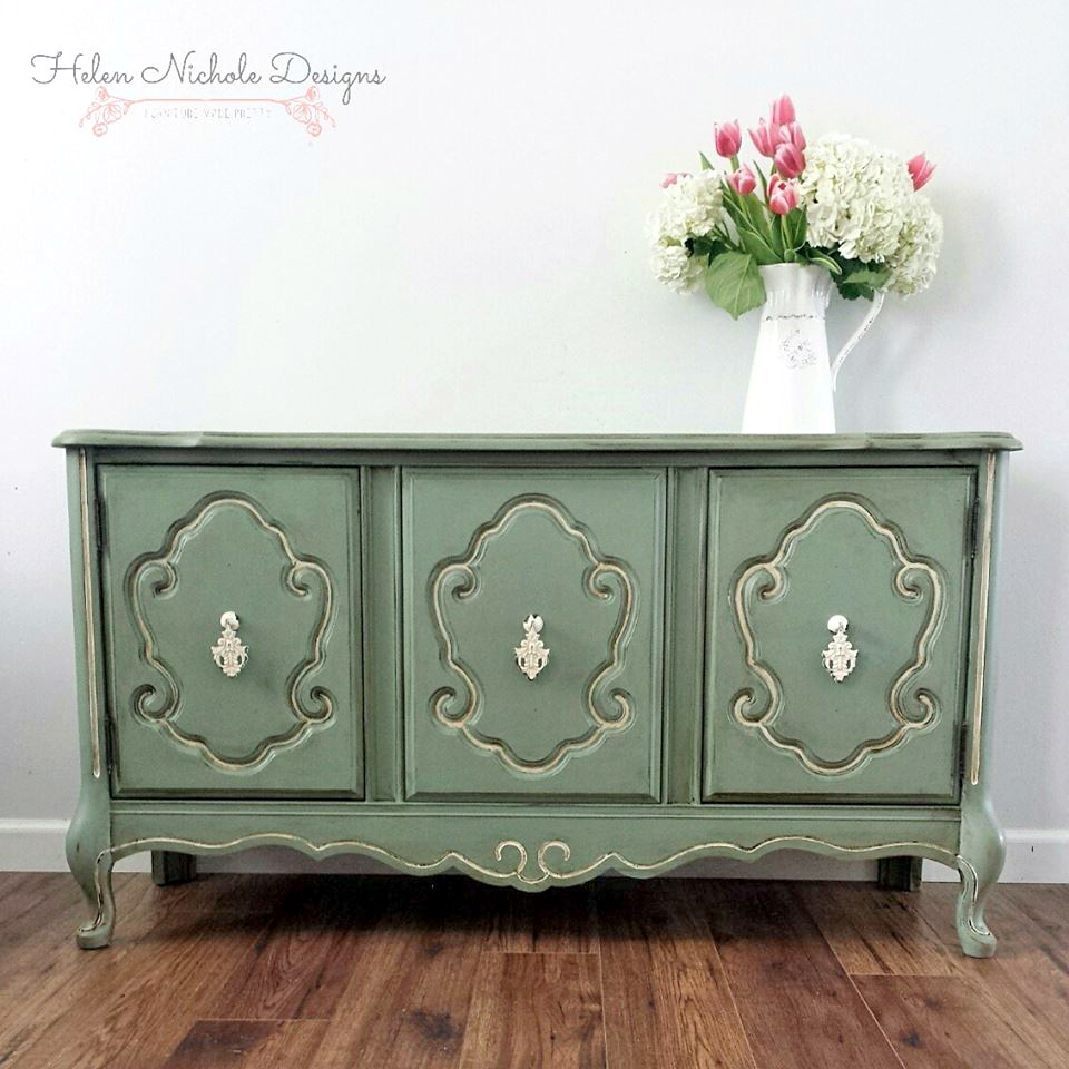 - Basil Green French Provincial Buffet General Finishes Design Center