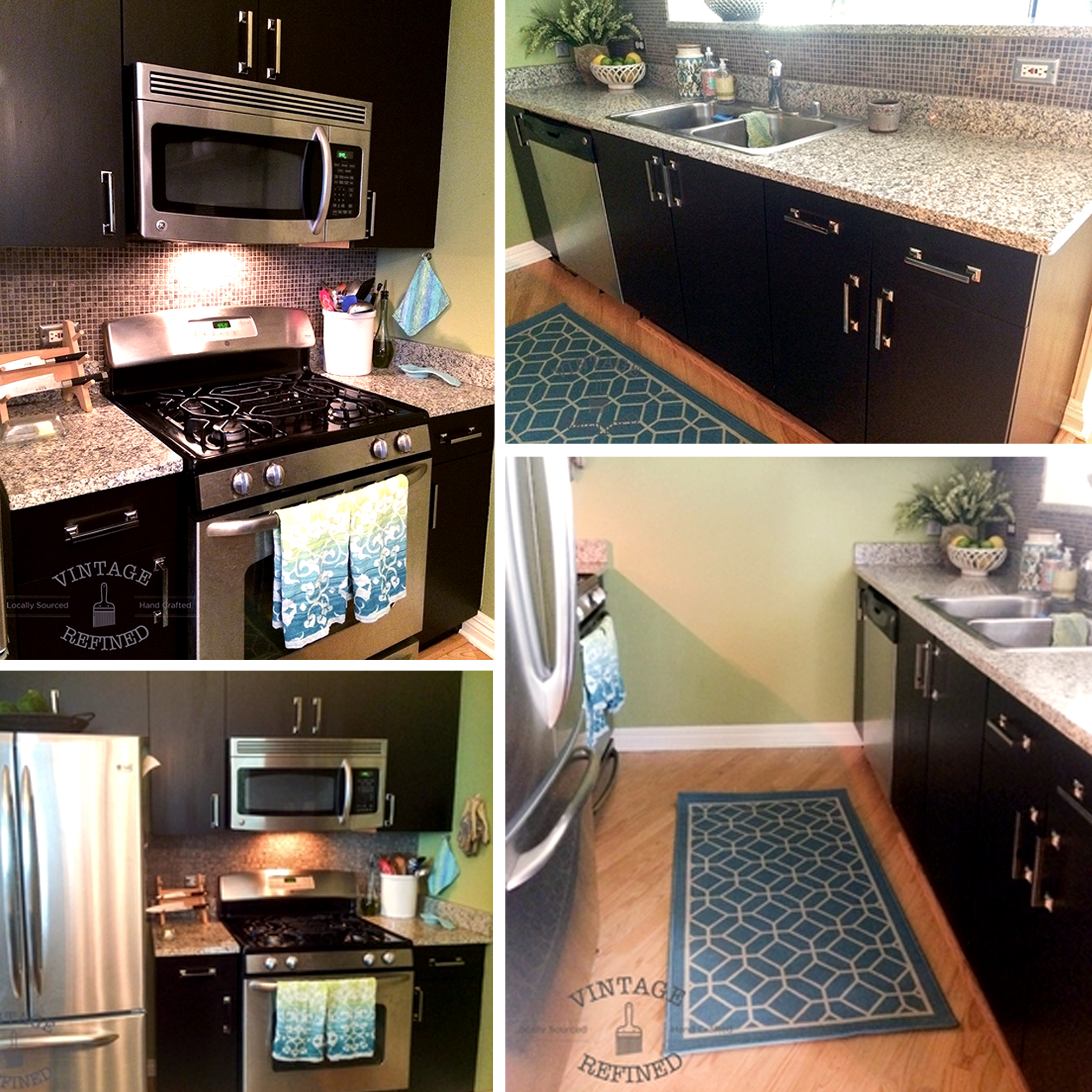 Kitchen Cabinet Makeover With Java Gel Stain