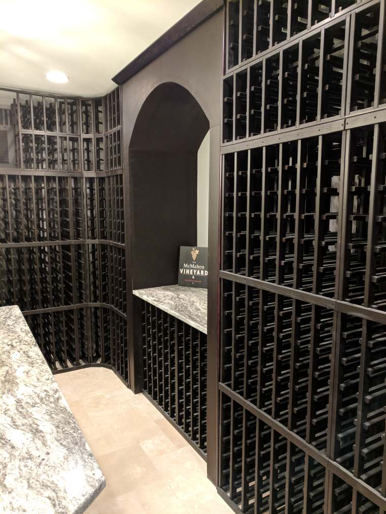 Kitchen Wine Cellar Makeover In Espresso Water Based