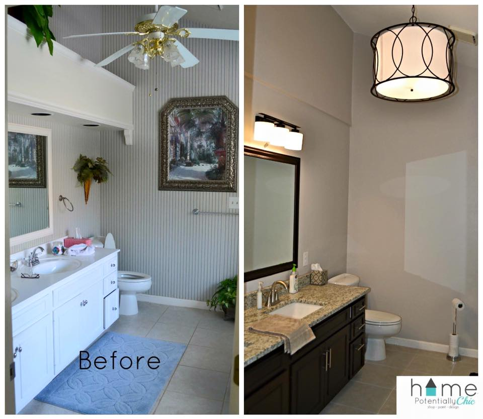 Bathroom Transformation In Dark Chocolate Milk Paint