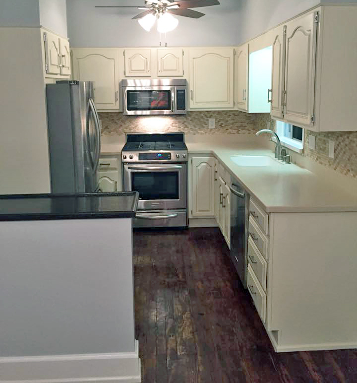 Paint Cabinets Brown: Antique White Kitchen Makeover