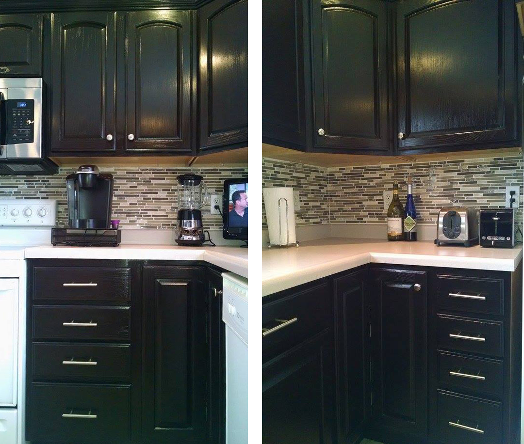 general finishes java gel stain kitchen cabinets kitchen makeover in java gel stain general finishes 15785
