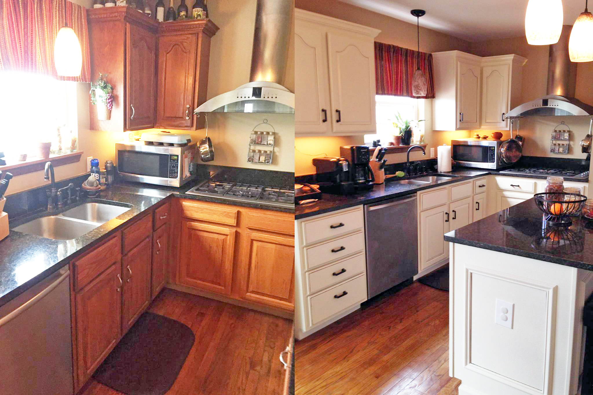 Antique white kitchen makeover general finishes design for White kitchen cabinets turning yellow