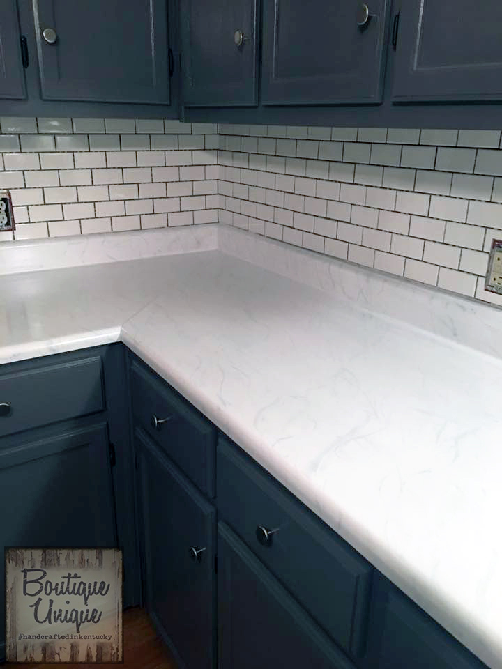 Quot Carrara Marble Quot Countertop With Gf Milk Paint General