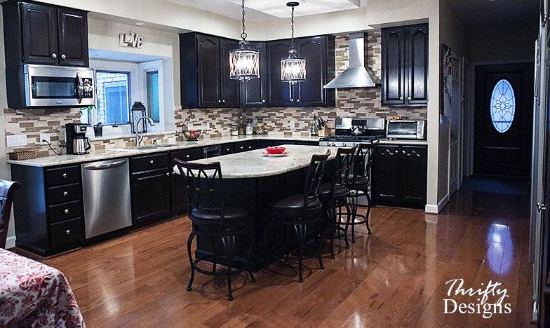 Java Gel Stained Kitchen   General Finishes Design Center