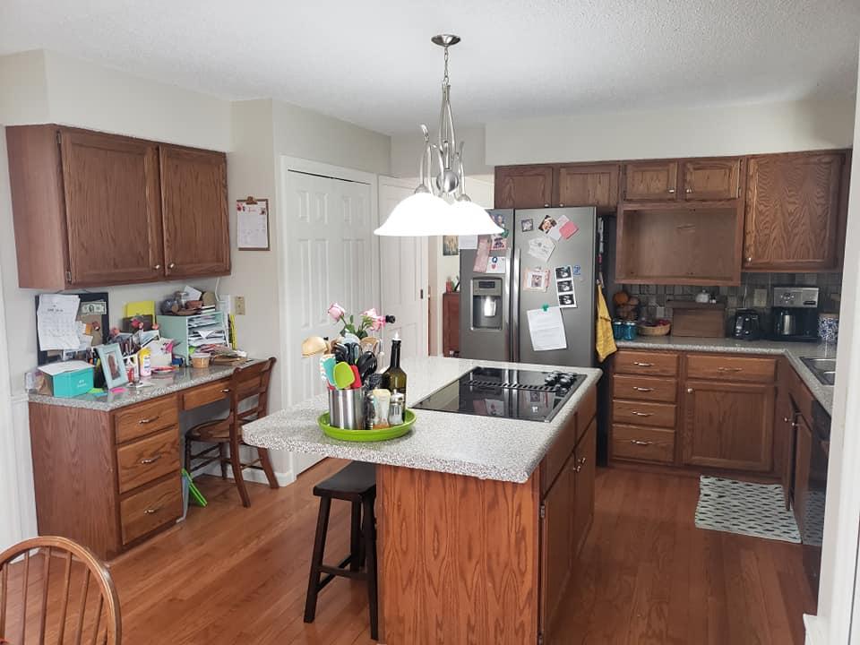 Antique White and Coastal Blue Kitchen Cabinet Makeover | General Finishes  Design Center - Antique White And Coastal Blue Kitchen Cabinet Makeover General