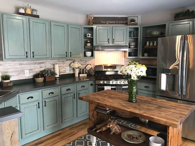 Persian Blue Kitchen Cabinets General Finishes Design Center