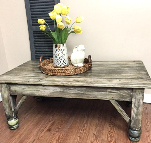 Rustic Coffee Table Restyle General Finishes Design Center