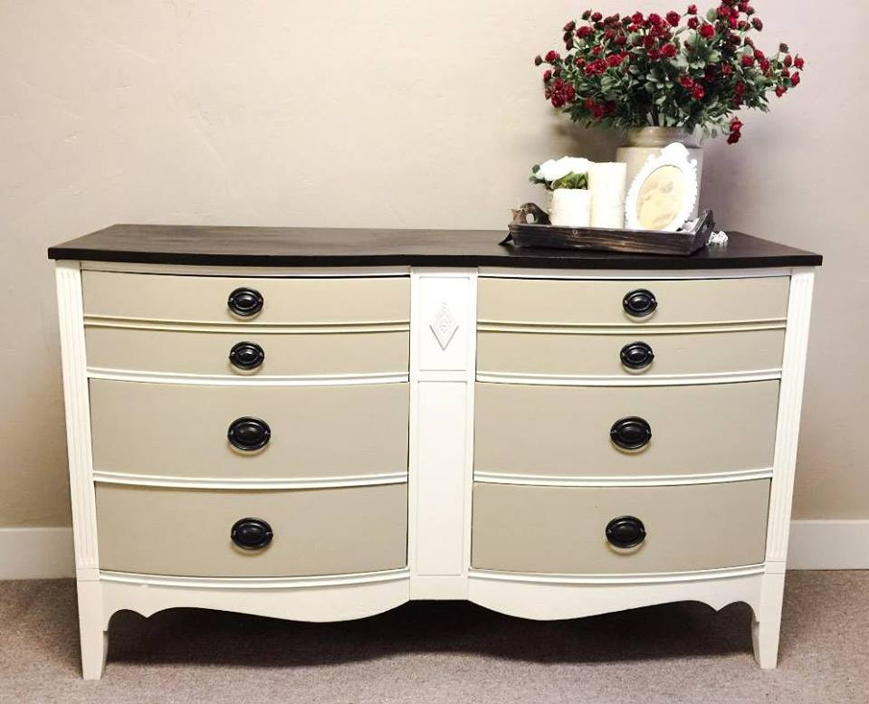 Two Toned Antique Dresser Restyle General Finishes