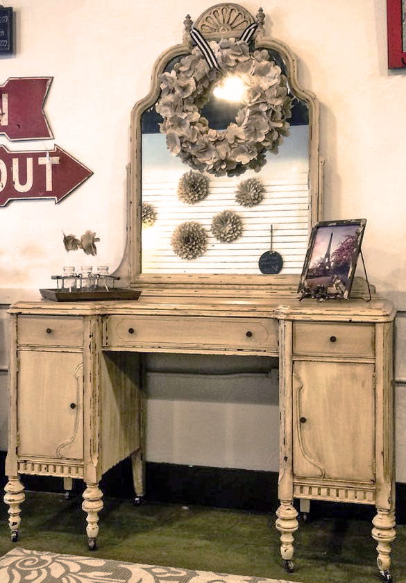 Linen And Van Dyke Brown Chippy Vanity General Finishes