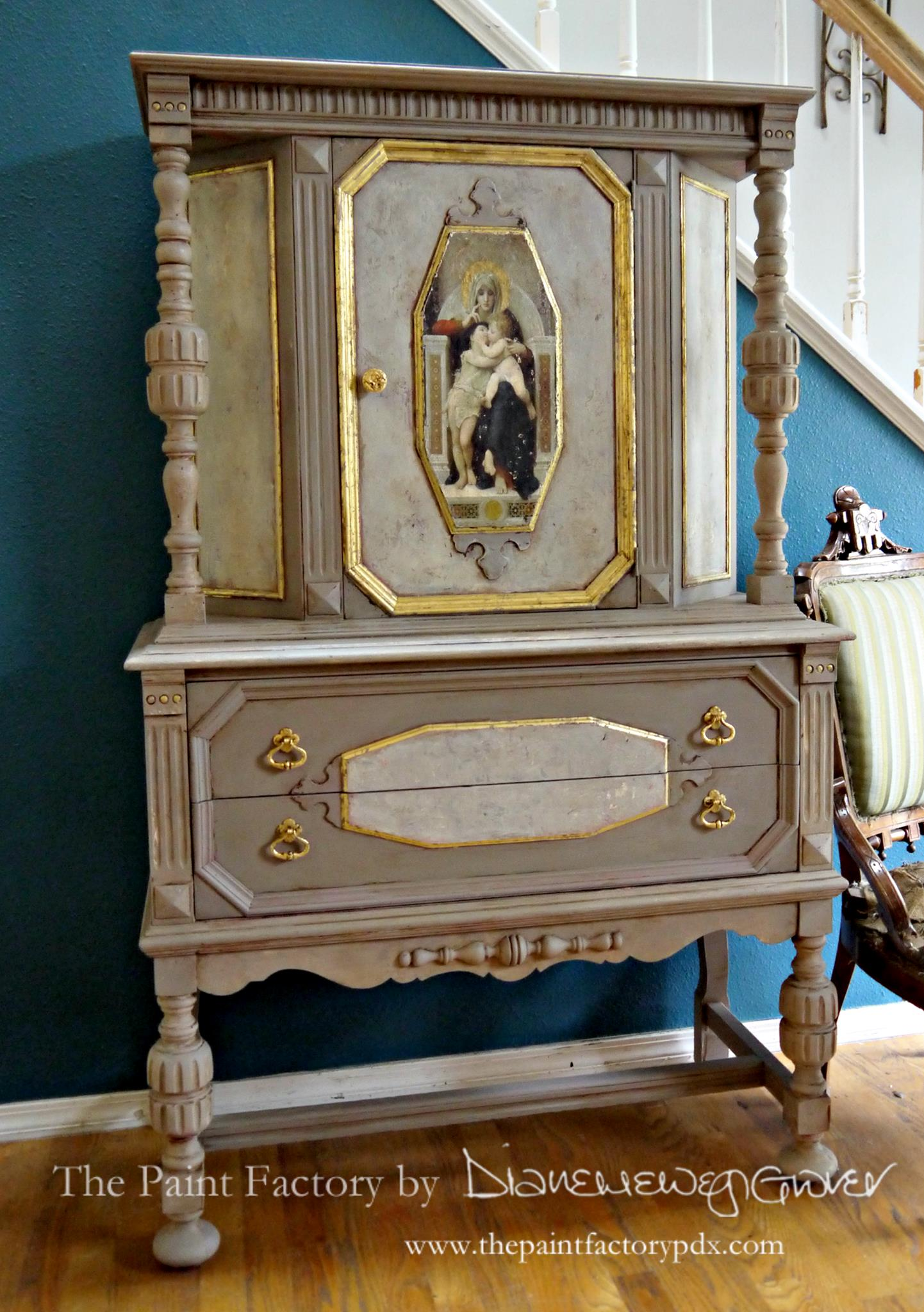 Fresco Cabinet With Glaze Effects General Finishes