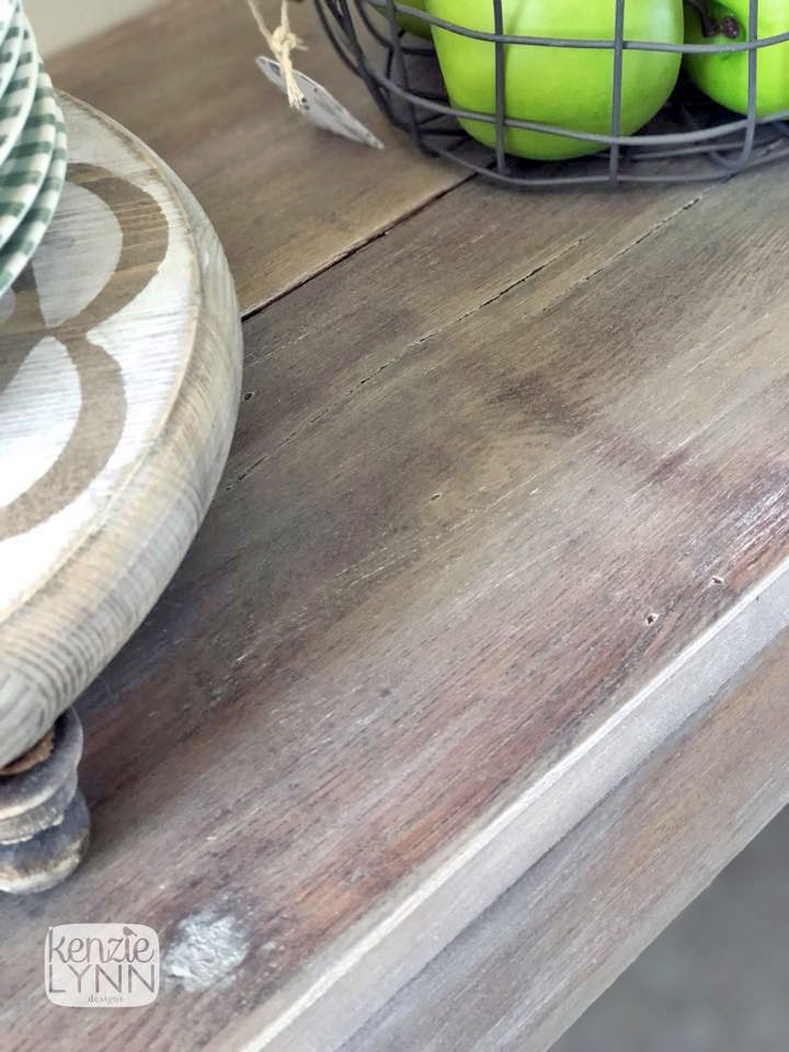 Snow White Dry Brushed Console Table General Finishes
