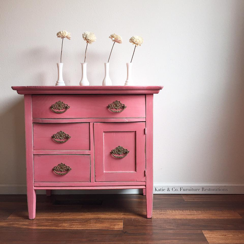 Bright Bedside Tables In Coral Crush And Apricot General