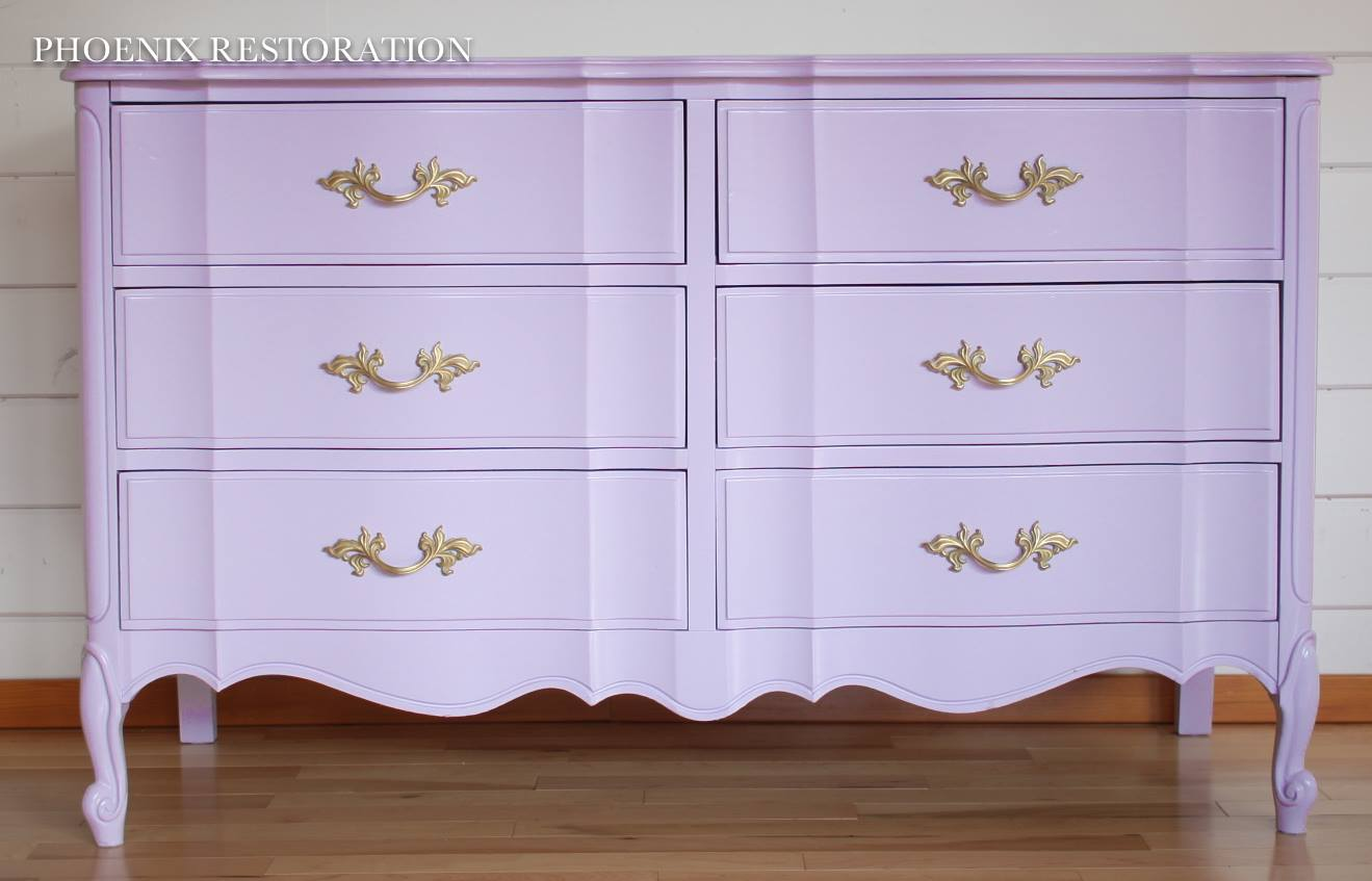 Fantastic Custom Mixed Purple Dresser | General Finishes Design Center XY23