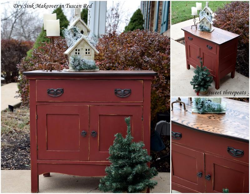 Cabinet In Tuscan Red Milk Paint General Finishes Design