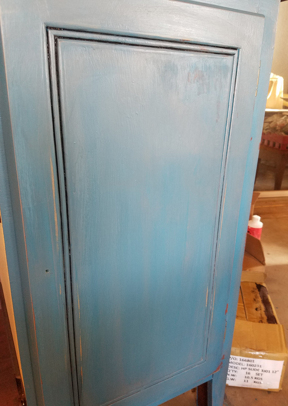 Turquoise Dresser Glazed With Gray Gel Stain General