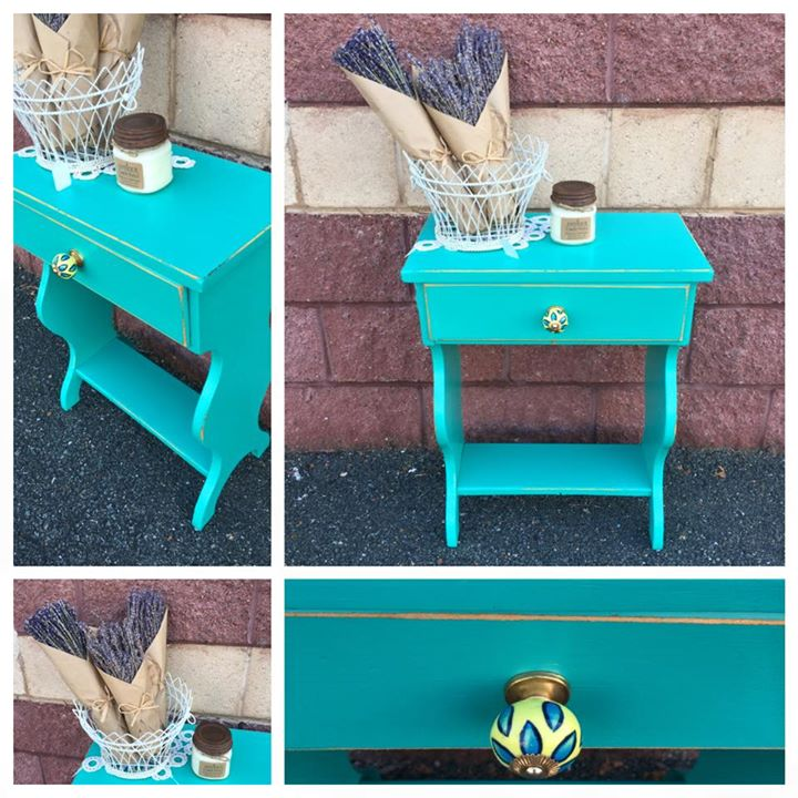 End Table In Patina Green Milk Paint And High Performance