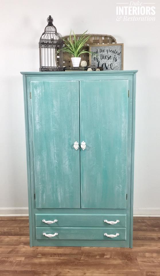 Turquoise Blended Cabinet General Finishes Design Center