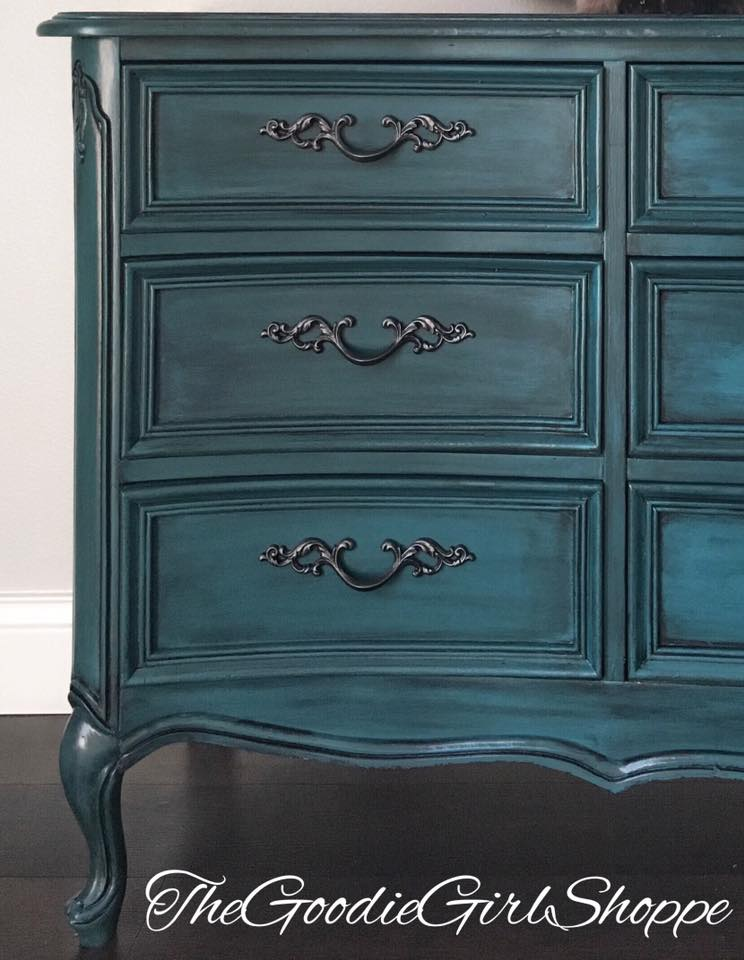 Dreamy Peacock Dresser General Finishes Design Center
