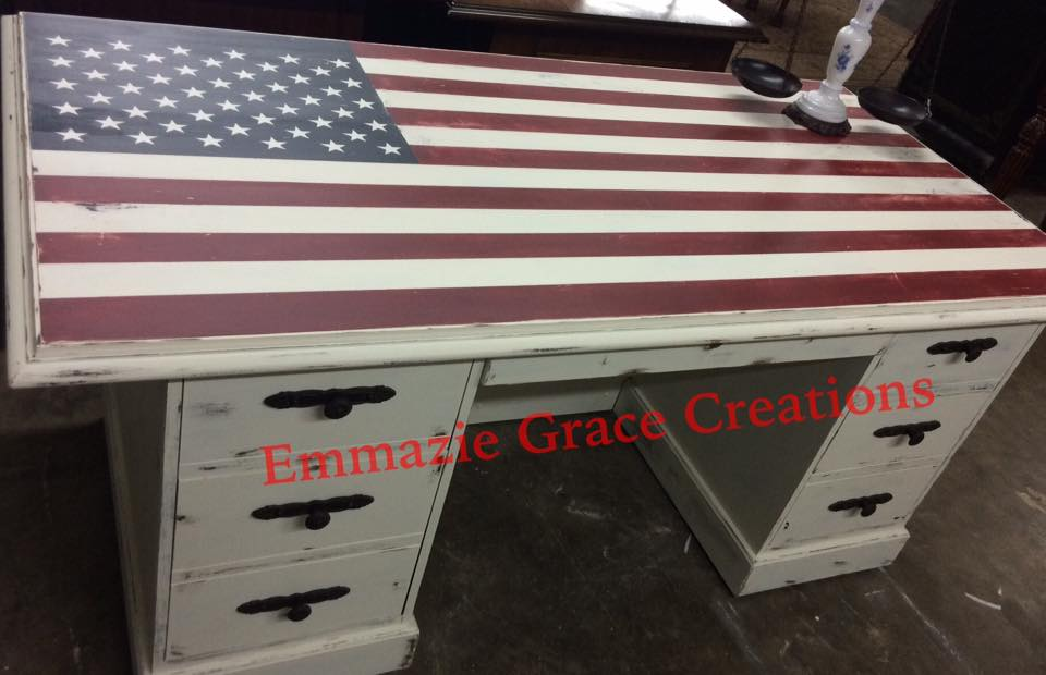 American Flag Inspired Desk General Finishes Design Center