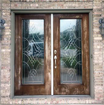 Brown Mahogany Water Based Stained Front Door General