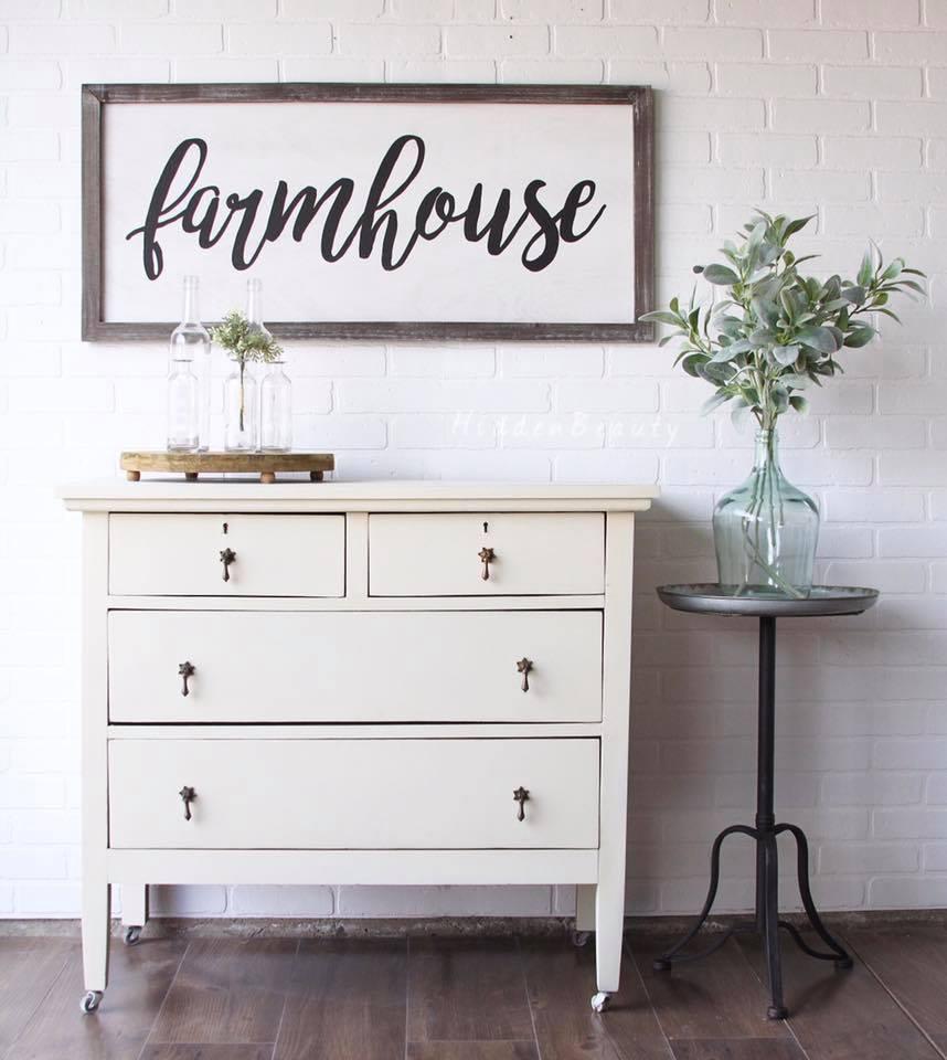 French Vanilla Chalk Style Paint Dresser