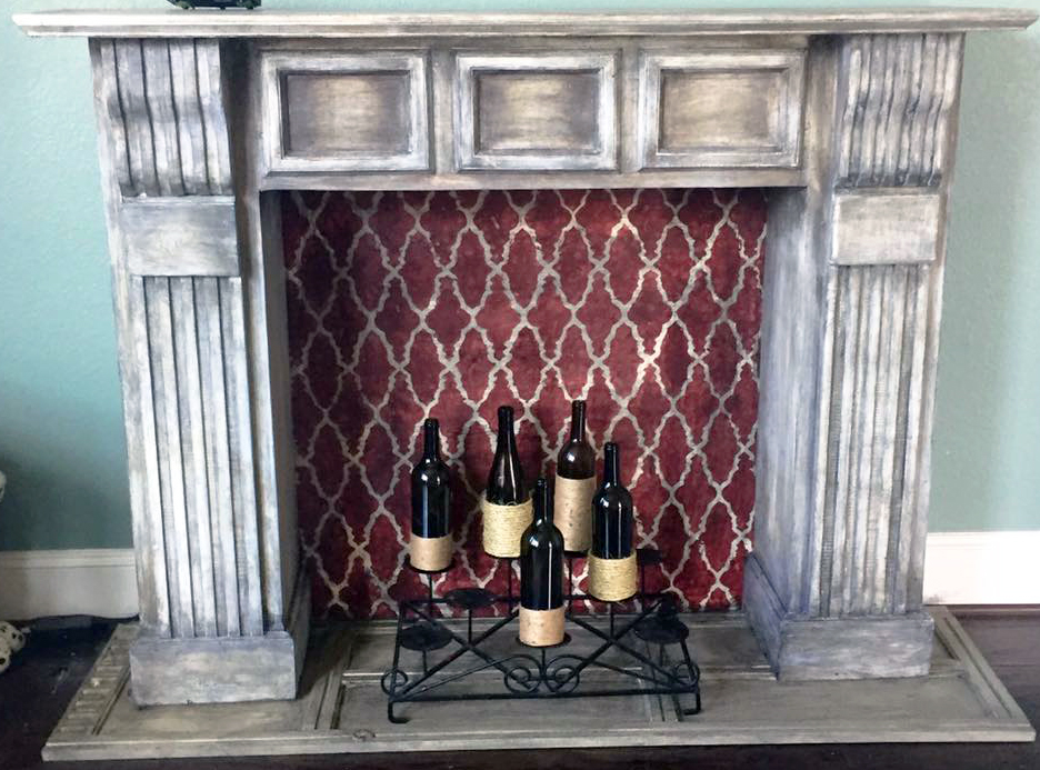 Distressed Fireplace General Finishes Design Center
