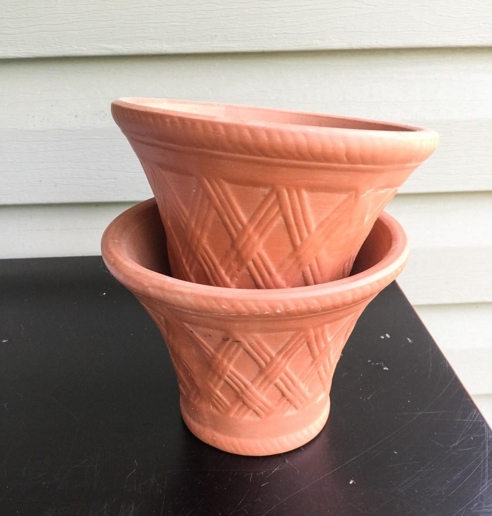 Whitewashed Terra Cotta Flower Pot General Finishes