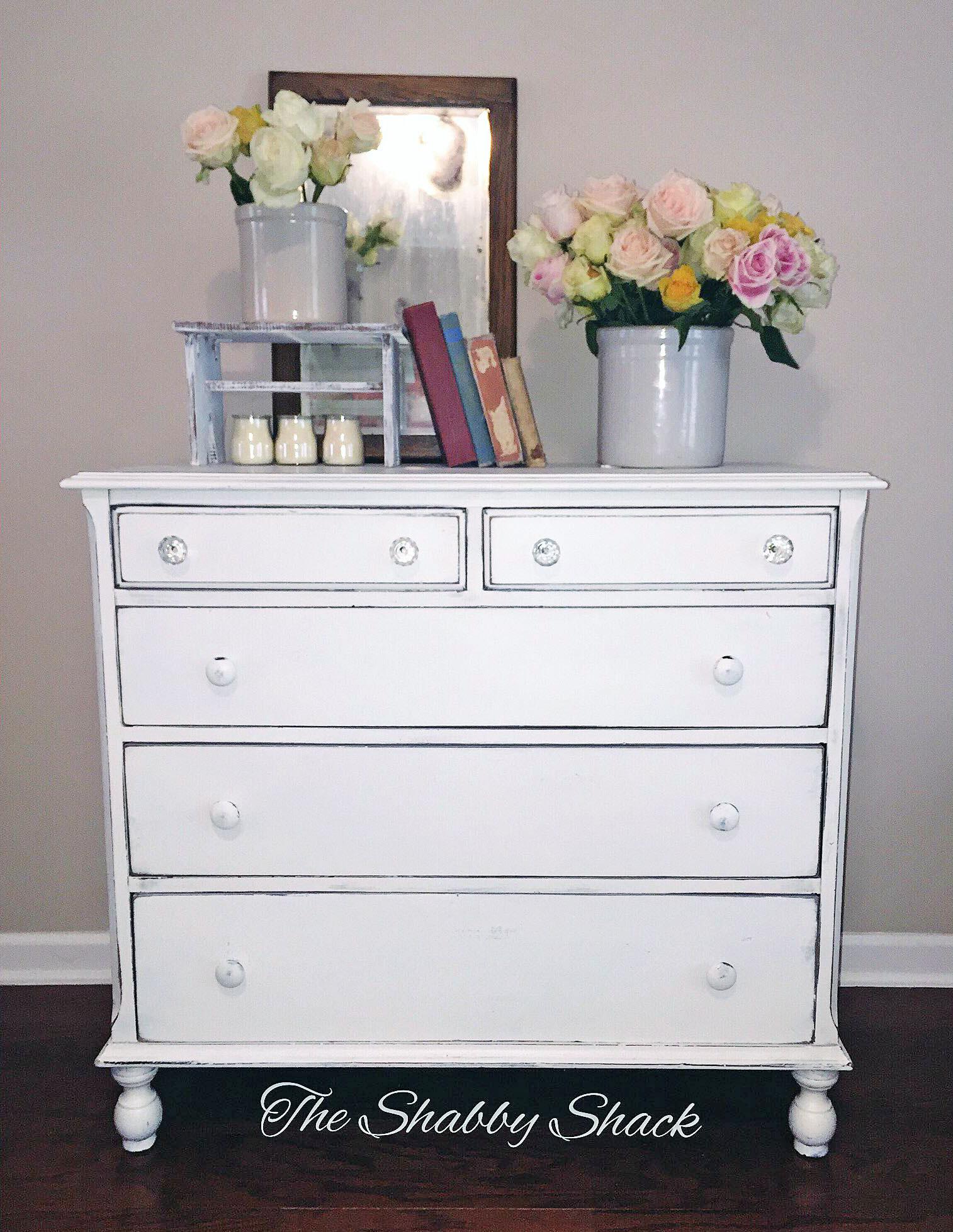 Antique White Shabby Chic Dresser