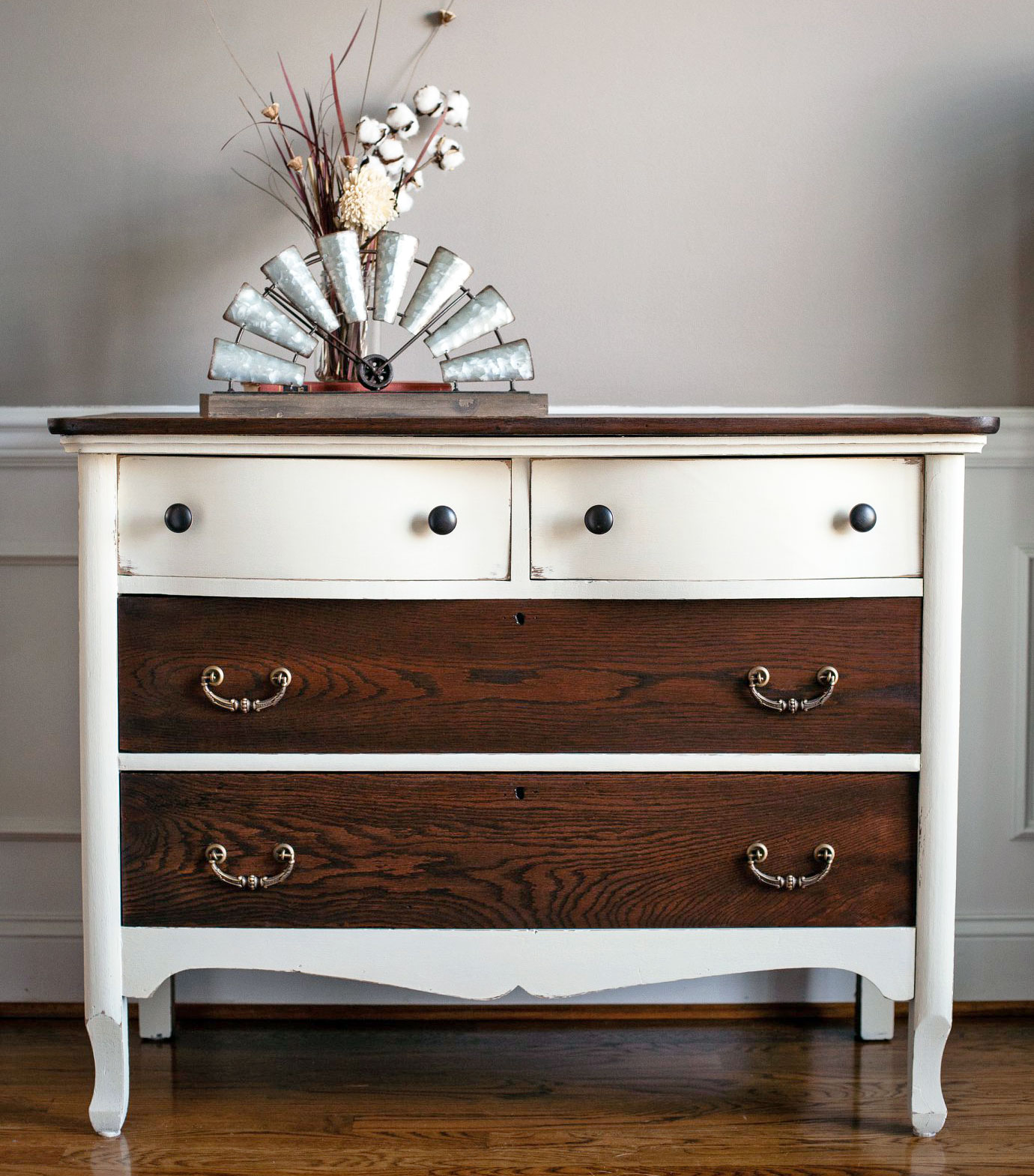 antique white and java gel farmhouse dresser general 87953
