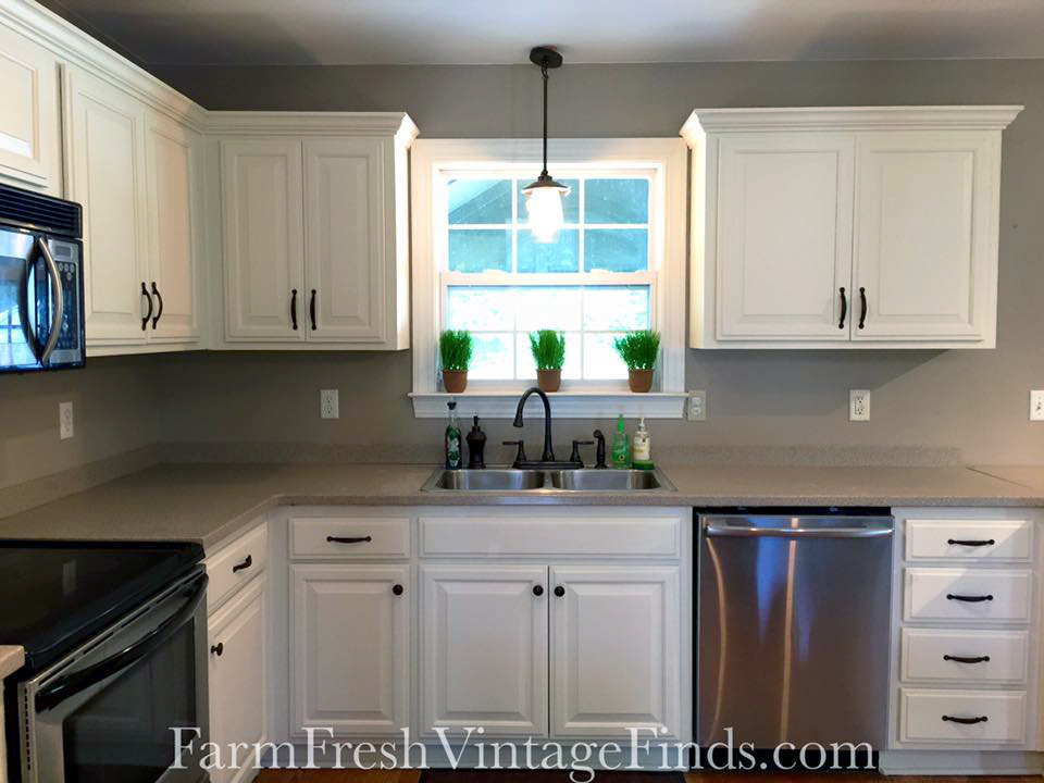 GF Linen Milk Painted Kitchen Cabinets
