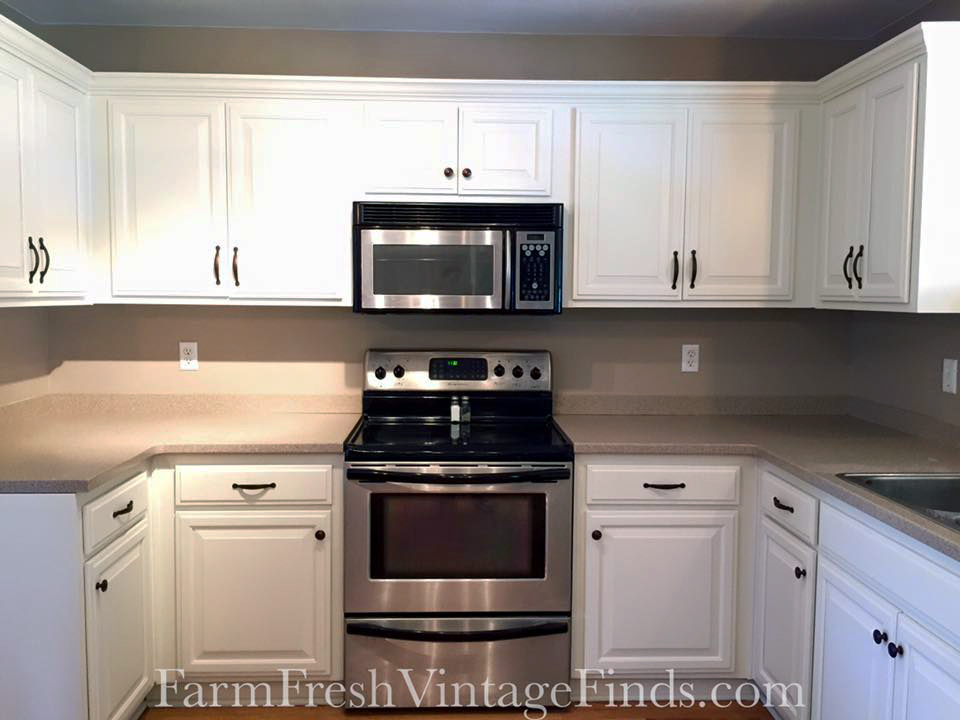 GF Linen Milk Painted Kitchen Cabinets GF