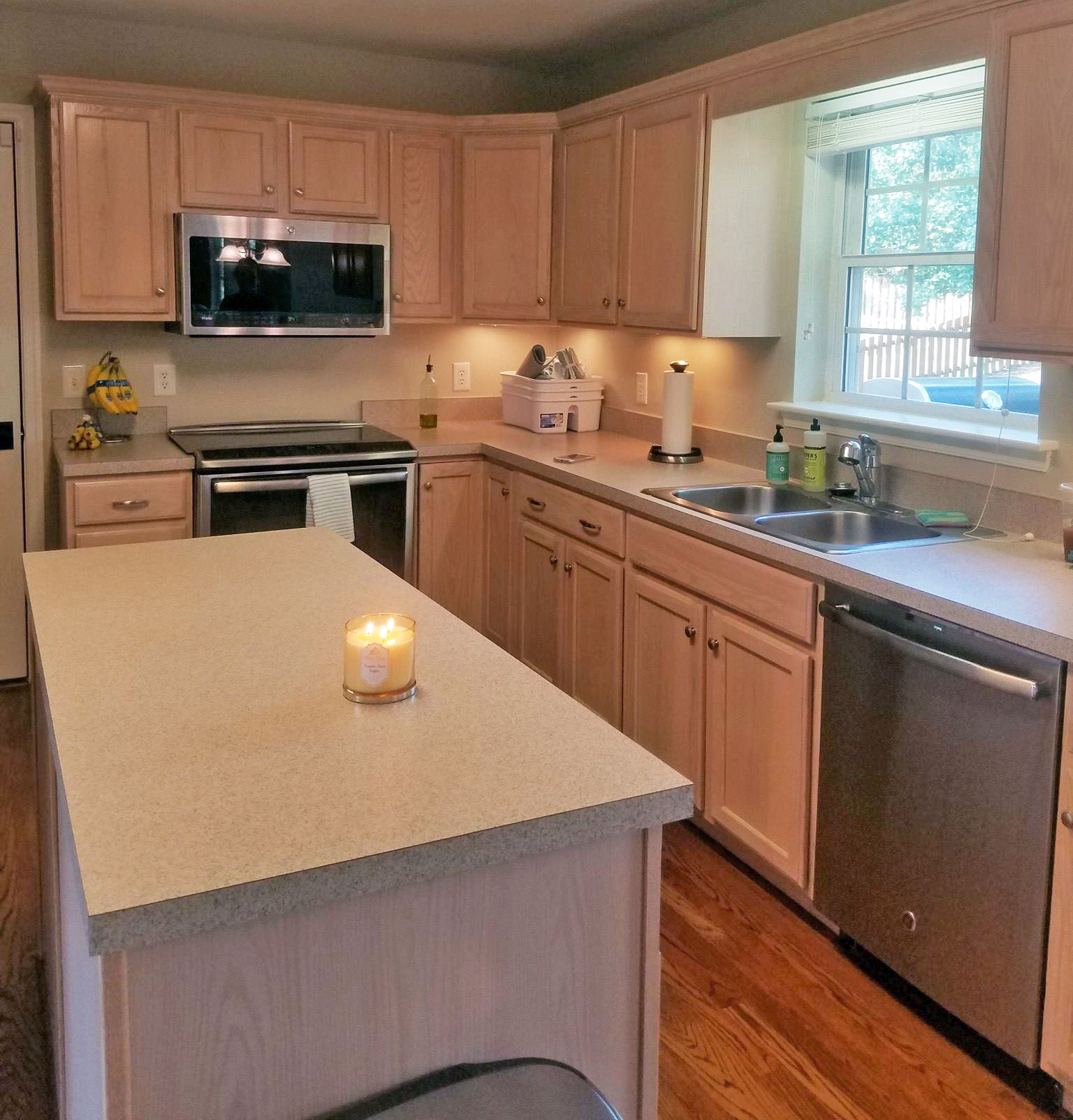 Finishes For Kitchen Cabinets: Snow White Kitchen Cabinet Transformation