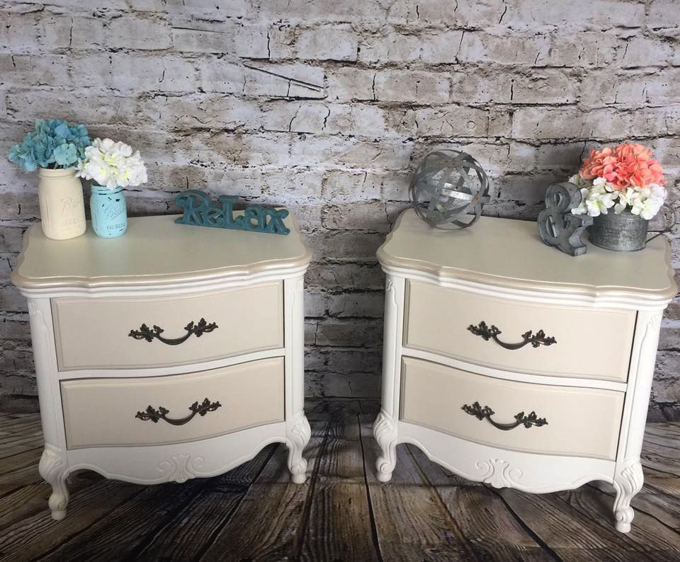 Nightstands With Antique White Amp Linen Milk Paint