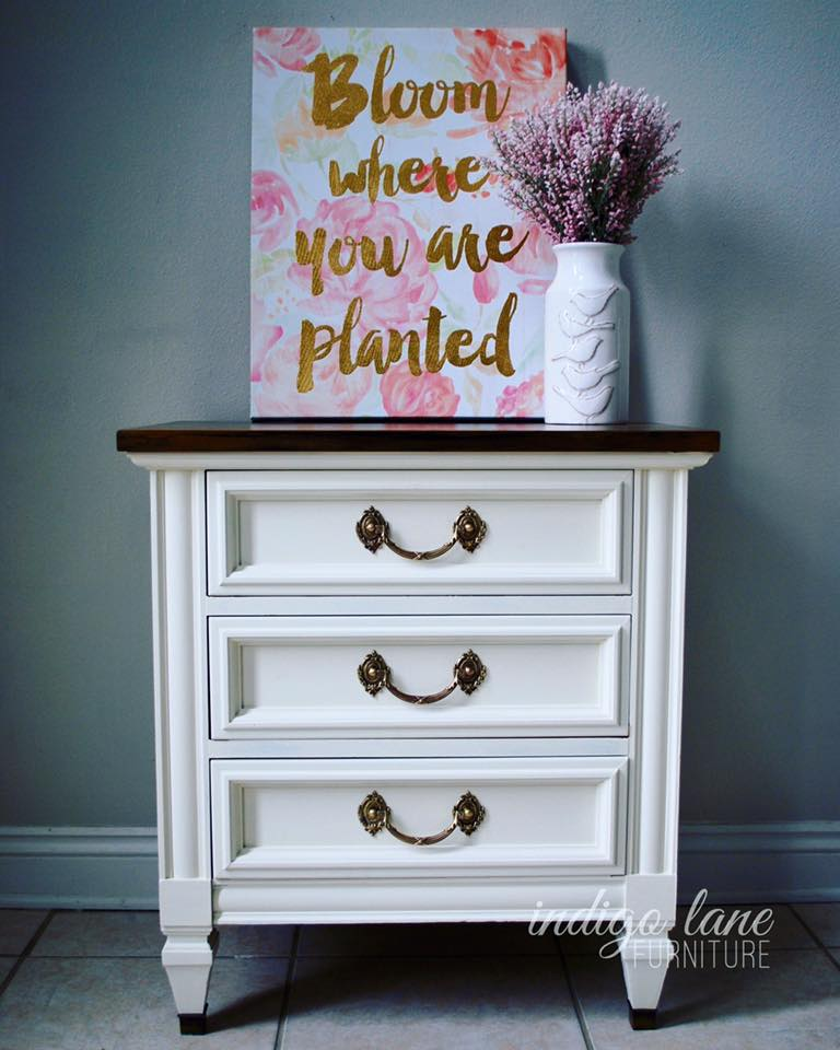 charming antique white wash furniture | Nightstand in Antique White Milk Paint | General Finishes ...