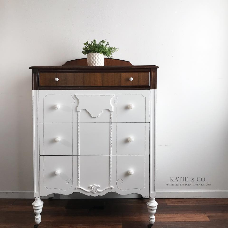 snow white dipped dresser general finishes design center. Black Bedroom Furniture Sets. Home Design Ideas