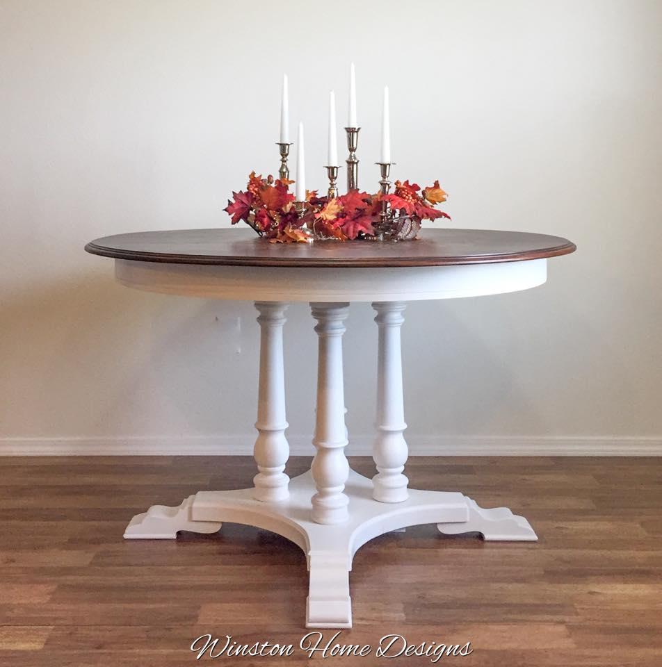 Mandala Table In Snow White General Finishes Design Center